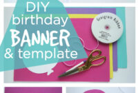 Happy Birthday Banner Diy Template | Balloon Birthday Banner In Diy Party Banner Template