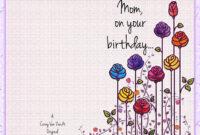 Happy Birthday Card – Corey Van Zandt inside Mom Birthday Card Template