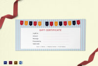 Happy Birthday Gift Certificate Template pertaining to Gift Certificate Template Indesign
