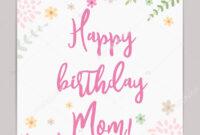 Happy Birthday Mom Template | Happy Birthday Mom Holiday inside Mom Birthday Card Template