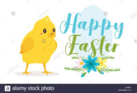 Happy Easter Design Template For Greeting Card Or Banner with regard to Easter Chick Card Template