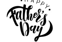 Happy Fathers Day Greeting Card Template with Fathers Day Card Template