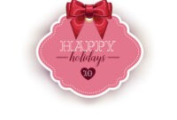 Happy Holiday Card Template With Ribbon with Happy Holidays Card Template