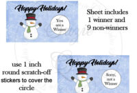 Happy Holidays Scratch Off Card Template – Digital Printable Throughout Scratch Off Card Templates