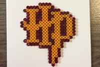 Harry Potter Blank Card Hama Beadspandkcraft | Harry with Blank Perler Bead Template