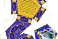 Harry Potter Paraphernalia: Chocolate Frogs Box Template with Chocolate Frog Card Template