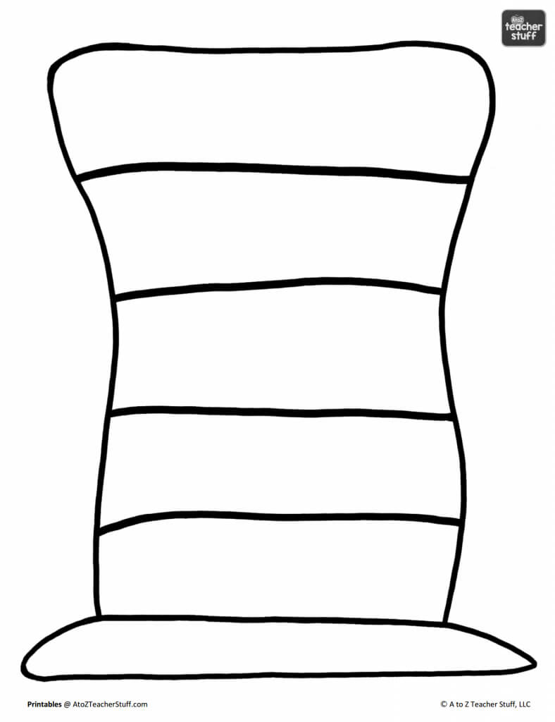Hat Printables For Dr. Seuss, Cat In The Hat, Or Just Hats For Blank Cat In The Hat Template