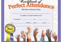 Hayes 180 Pk Perfect Attendance Certificates | Perfect in Hayes Certificate Templates