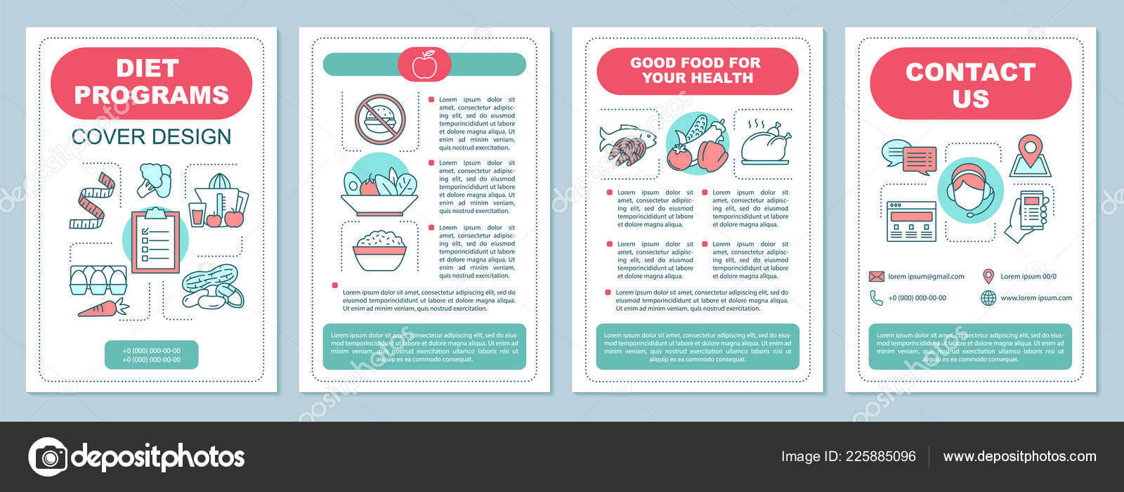 Healthy Nutrition Brochure Template Layout Dieting Program In Nutrition Brochure Template