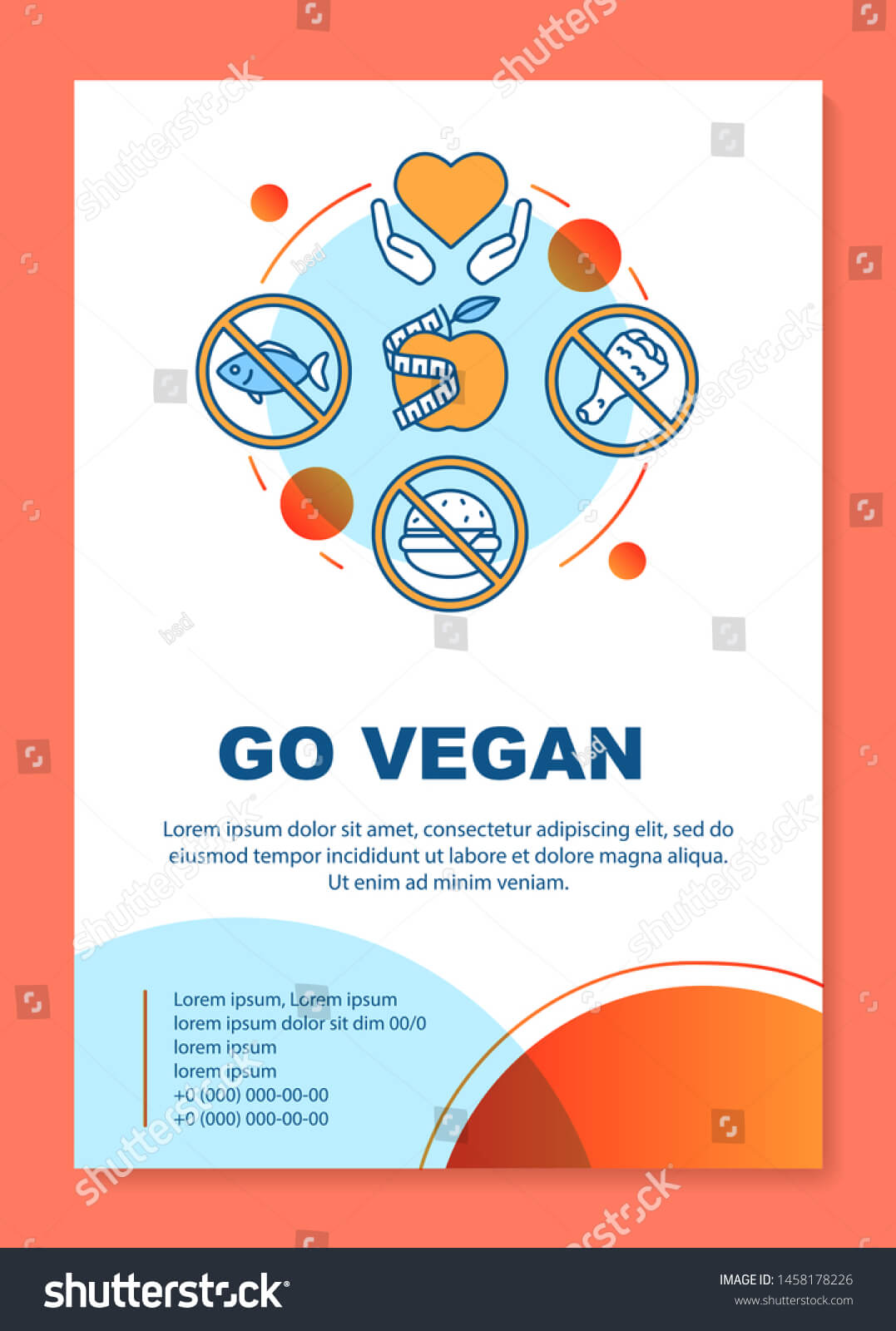 Healthy Nutrition Brochure Template Layout Go Stock Vector In Nutrition Brochure Template