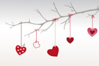 Heart Branch For Valentine Day Backgrounds For Powerpoint throughout Valentine Powerpoint Templates Free