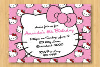 Hello Kitty Birthday Invitations Printable Free – Invitation regarding Hello Kitty Birthday Card Template Free