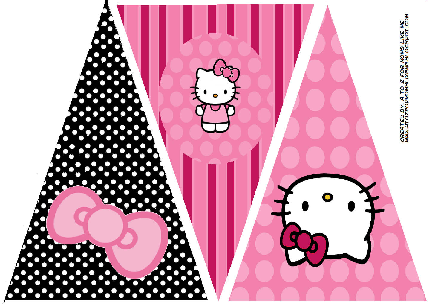 Hello Kitty Birthday Party Banner. This Is One Of 2 For Hello Kitty Banner Template