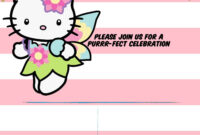 Hello Kitty Invitation Template – Portrait Mode | Hello pertaining to Hello Kitty Banner Template