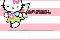 Hello Kitty Invitation Template – Portrait Mode | Hello regarding Hello Kitty Birthday Banner Template Free