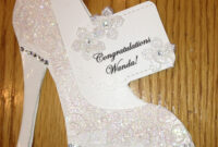 High Heel Shoe Card – Bridal Shower Tanya Bell's High with High Heel Template For Cards