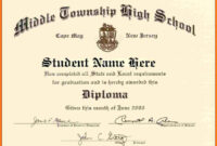 High School Diploma Template Word Free Download in University Graduation Certificate Template