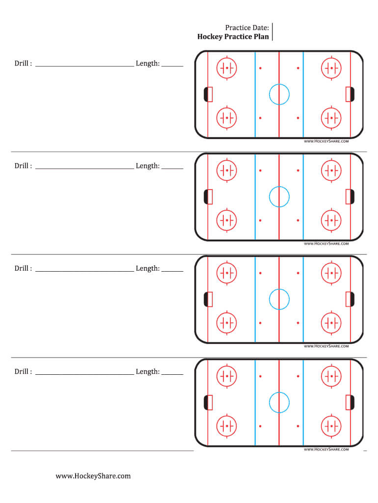Hockey Practice Sheeyts - Fill Online, Printable, Fillable With Blank Hockey Practice Plan Template