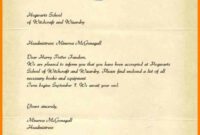 Hogwarts Acceptance Letter Template Microsoft Word – Forza regarding Harry Potter Certificate Template