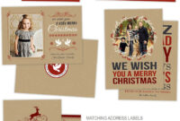 Holiday Card Photoshop Templates For Photographers with Christmas Photo Card Templates Photoshop