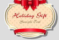 Holiday Gift Card Template Throughout Free Holiday Photo Card Templates