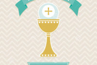 Holy Communion Card Template Stock Vector – Illustration Of with First Holy Communion Banner Templates
