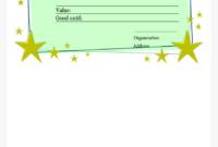 Homemade Gift Certificate Template Main Image – Printable pertaining to Homemade Christmas Gift Certificates Templates