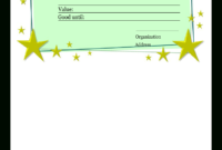 Homemade Gift Certificate Template | Templates At within Homemade Gift Certificate Template