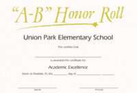 Honor Roll Templates. Honor Roll Certificate Templates A with regard to Honor Roll Certificate Template