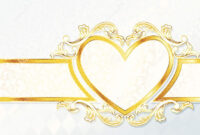 Horizontal Rococo Wedding Banner With Heart Emblem Stock with Wedding Banner Design Templates