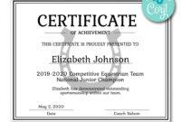 Horseshoe Certificate | Certificate Templates, Certificate throughout Softball Award Certificate Template