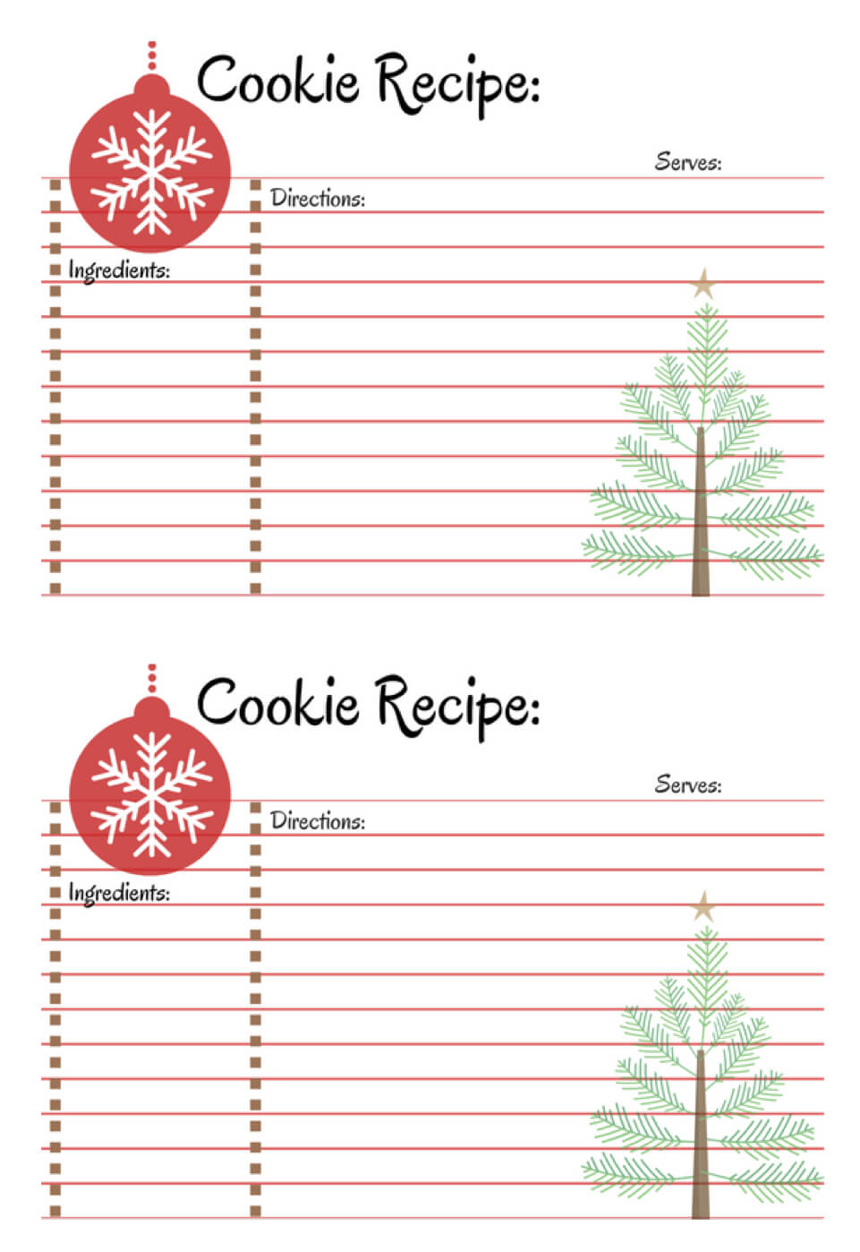 Host A Cookie Exchange Party | Printable Recipe Cards With Cookie Exchange Recipe Card Template