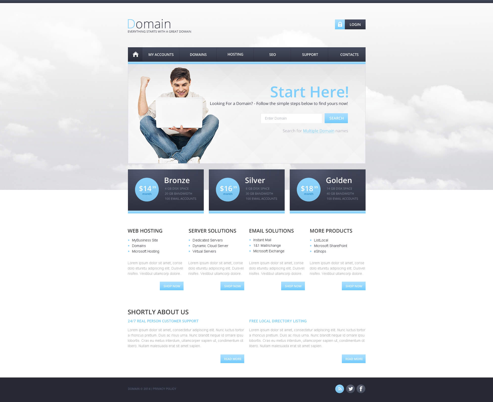Hosting Responsive Website Template With Regard To Reporting Website Templates