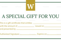 Hotel Gift Certificate Template – Bloginsurn for This Entitles The Bearer To Template Certificate