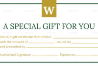 Hotel Gift Certificate Template inside Gift Certificate Template Publisher