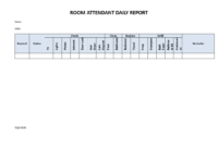 Hotel Room Attendant Daily Report | Templates At in Check Out Report Template