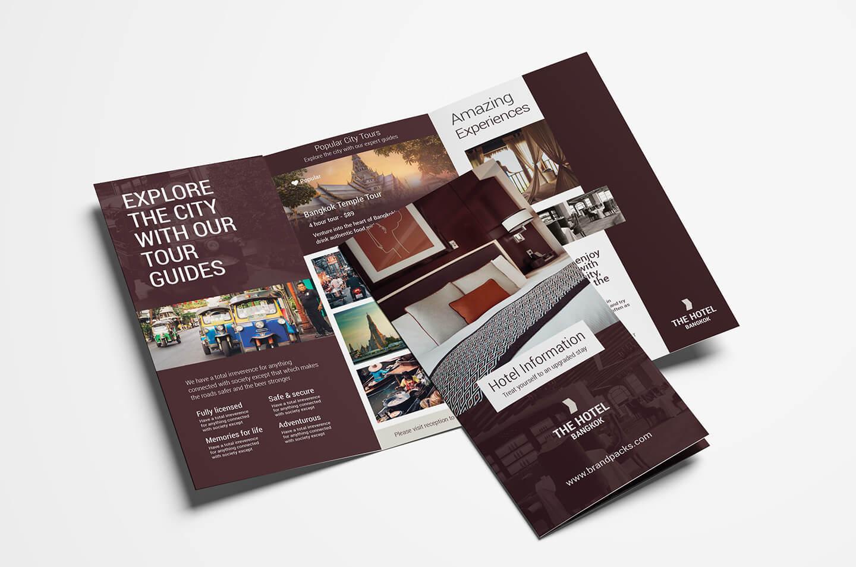 Hotel Tri Fold Brochure Template V2 - Psd, Ai & Vector Inside Hotel Brochure Design Templates