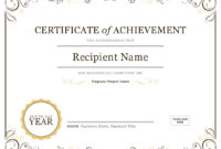 How To Create Awards Certificates – Awards Judging System with regard to Teacher Of The Month Certificate Template