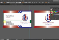 How To Design A Double Sided Business Card In Adobe in Adobe Illustrator Card Template
