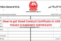 How To Get Good Conduct Certificate In Uae – Uae Labours Blog pertaining to Good Conduct Certificate Template