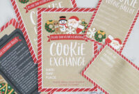 How To Host A Cookie Exchange (W/ Free Printables!) – I regarding Cookie Exchange Recipe Card Template