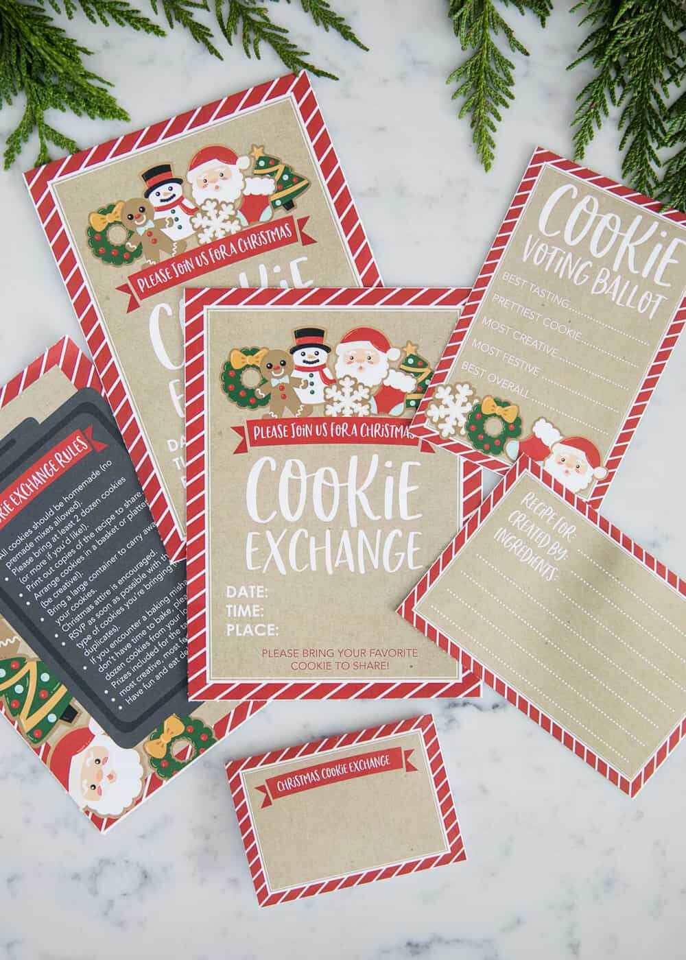 How To Host A Cookie Exchange (W/ Free Printables!) - I Regarding Cookie Exchange Recipe Card Template