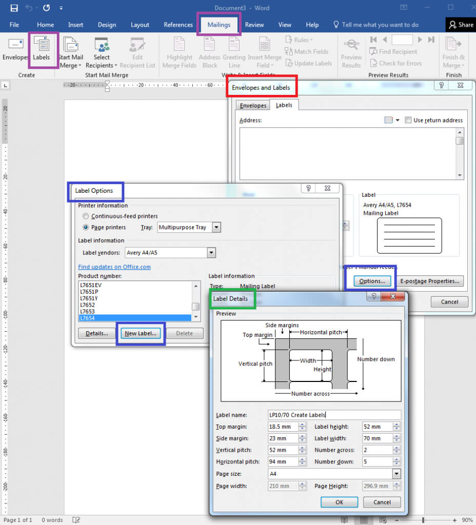 How To – How To Create Your Own Label Templates In Word Pertaining To Word Label Template 16 Per Sheet A4
