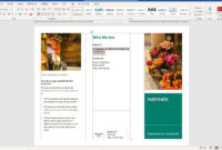 How To Make A Brochure On Microsoft Word pertaining to Ms Word Brochure Template