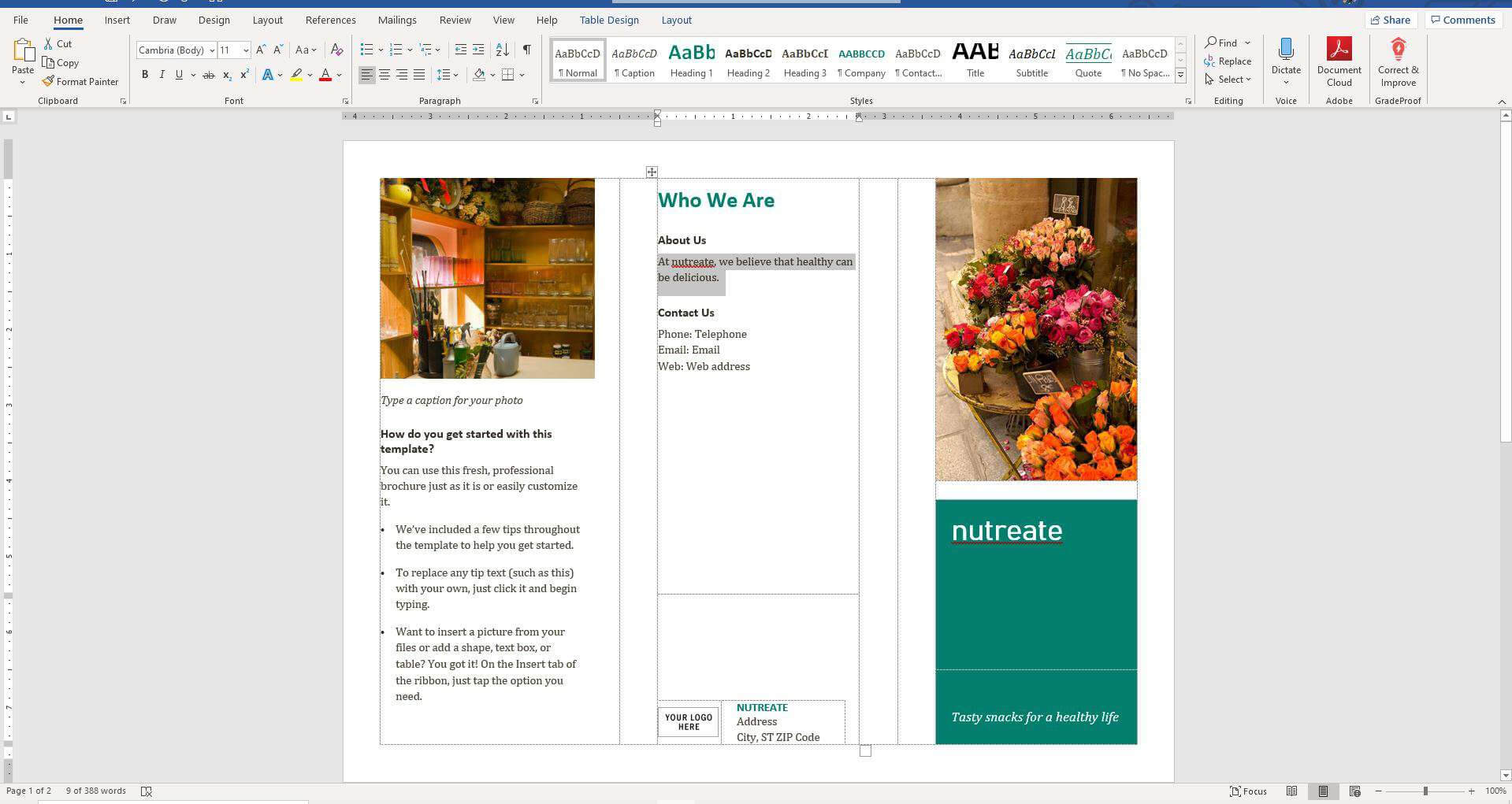 How To Make A Brochure On Microsoft Word With Regard To Brochure Template On Microsoft Word