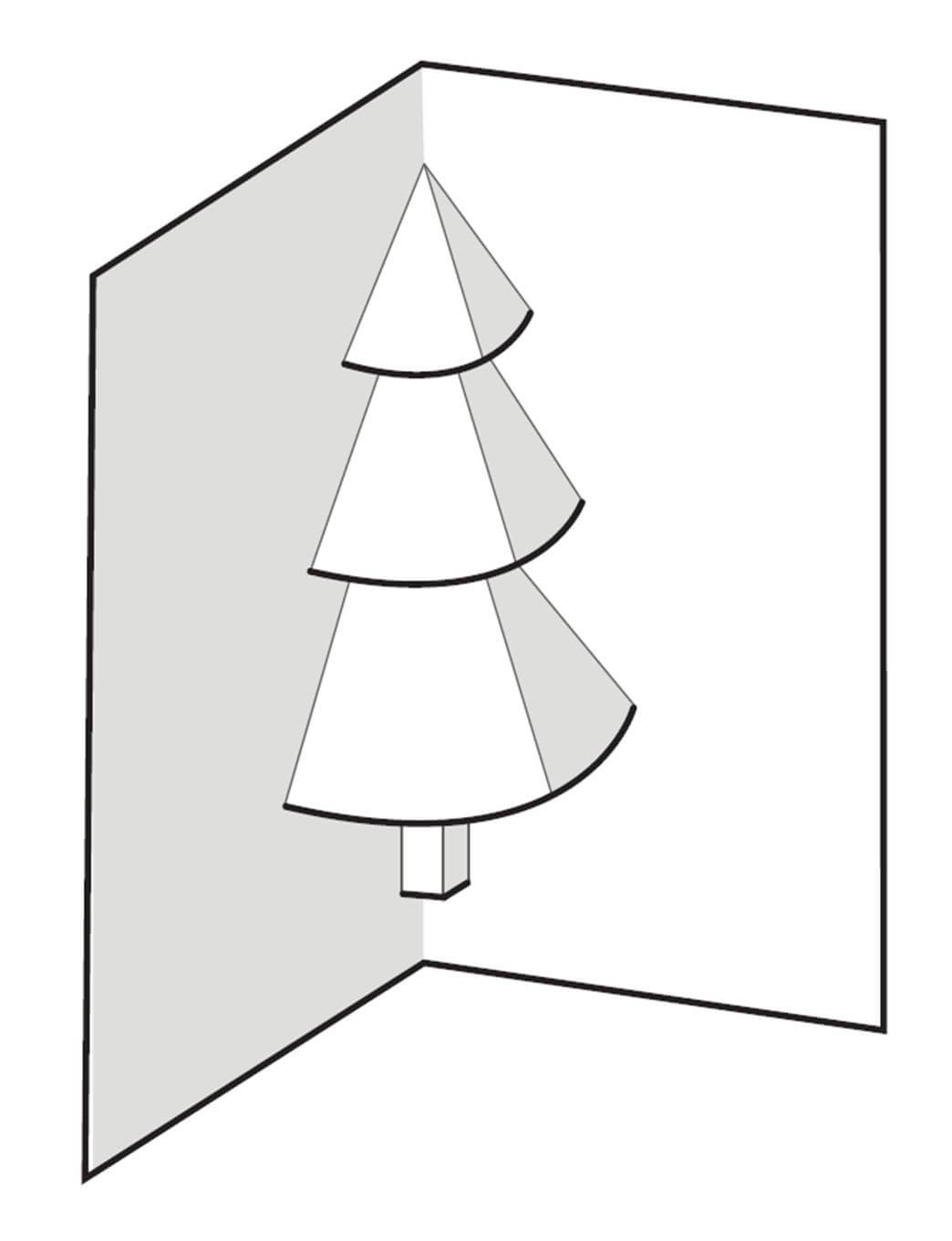 How To Make A Pop Up Christmas Tree Card : 6 Steps With Regard To Pop Up Tree Card Template