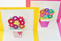 How To Make Pop-Up Flower Cards With Free Printables for Free Printable Pop Up Card Templates