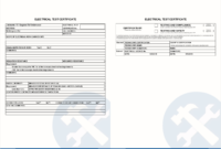 How To Set Up Electrical Test Forms | Simpro intended for Electrical Installation Test Certificate Template
