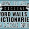 How To Use Digital Word Walls And Dictionaries In Google Throughout Blank Word Wall Template Free
