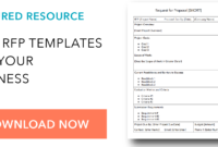 How To Write A Request For Proposal, With Template And Sample in Post Event Evaluation Report Template